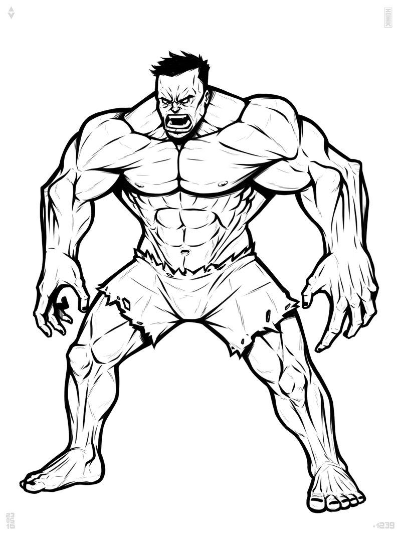 hulk outline for coloring hulk easy drawing at getdrawings free download outline hulk for coloring