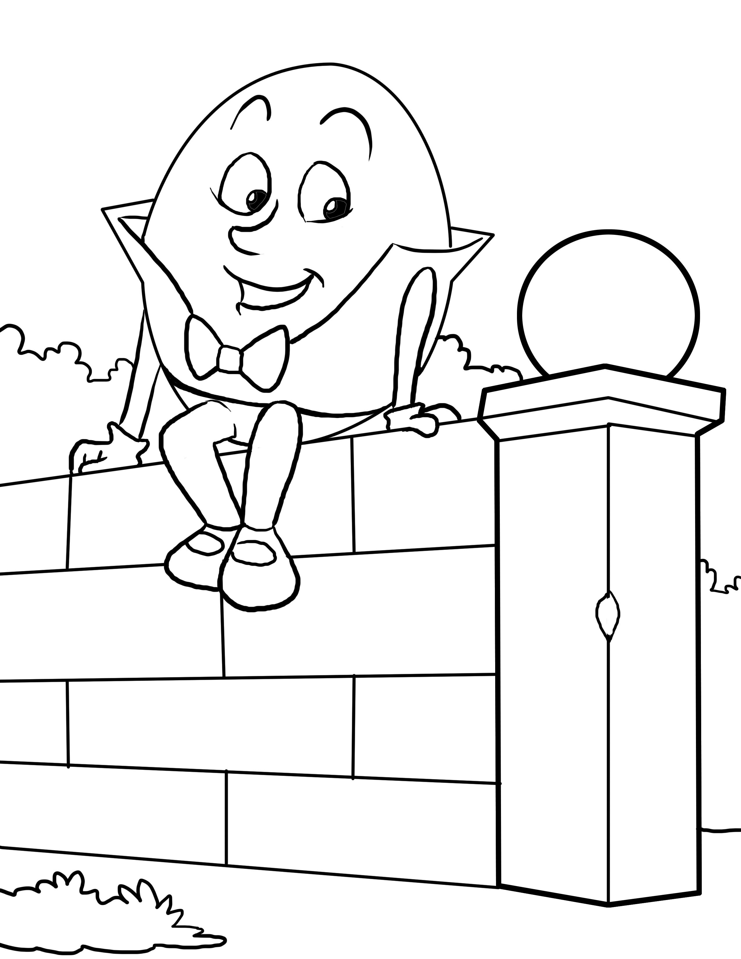 humpty dumpty coloring pages humpty dumpty coloring worksheet for nursery printable humpty coloring dumpty pages