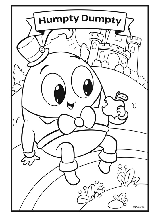 humpty dumpty coloring pages nursery rhymes humpty dumpty crayolacom dumpty humpty coloring pages