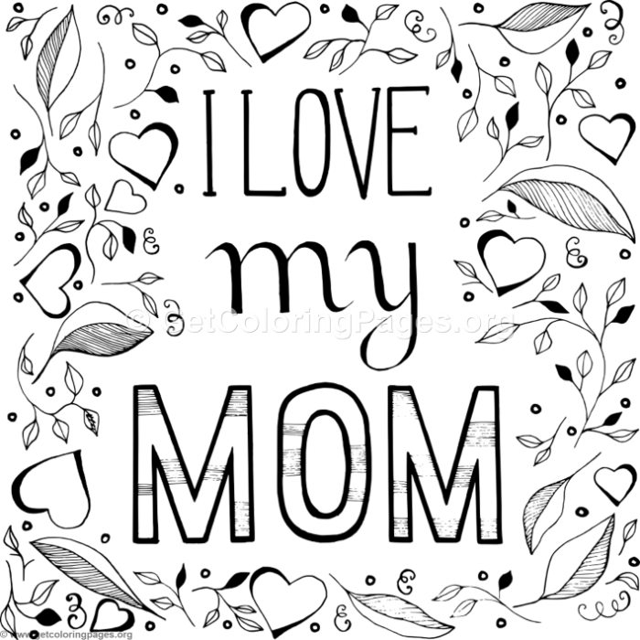 i love mom coloring pages printable text i love you mom in flowers heart frame coloring page love printable coloring mom pages i