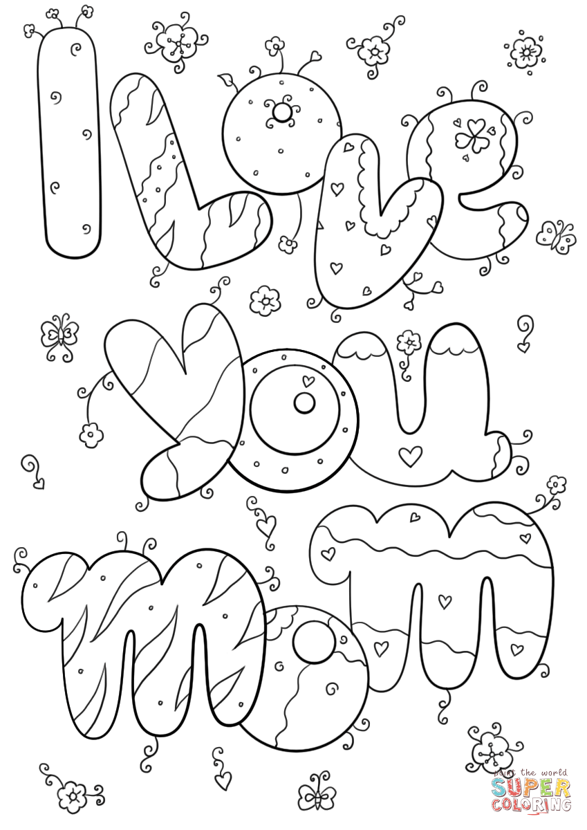 i love u mom coloring pages i love you mom coloring pages i u pages mom love coloring