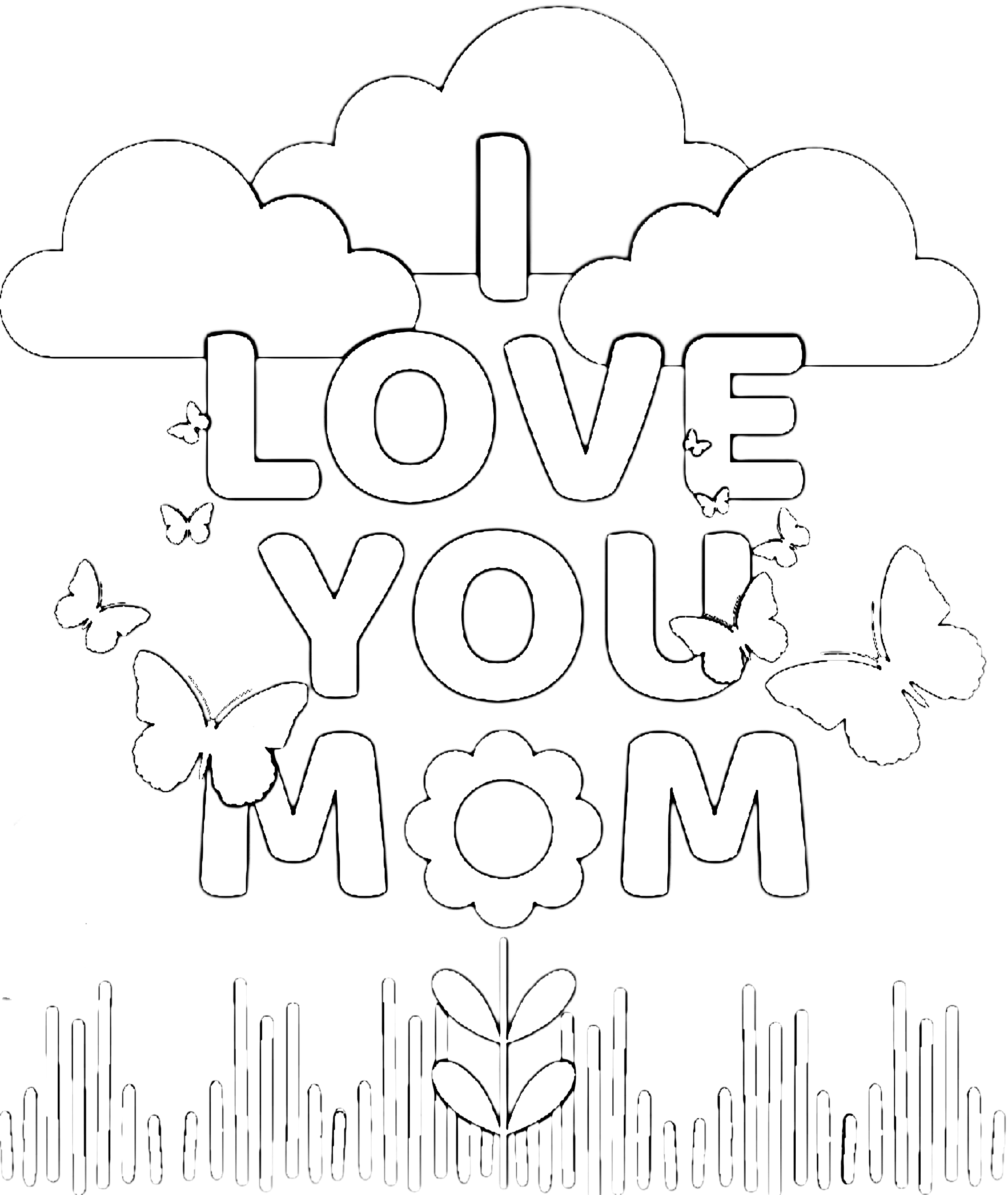 i love u mom coloring pages mother coloring page getcoloringpagescom mom i u love coloring pages