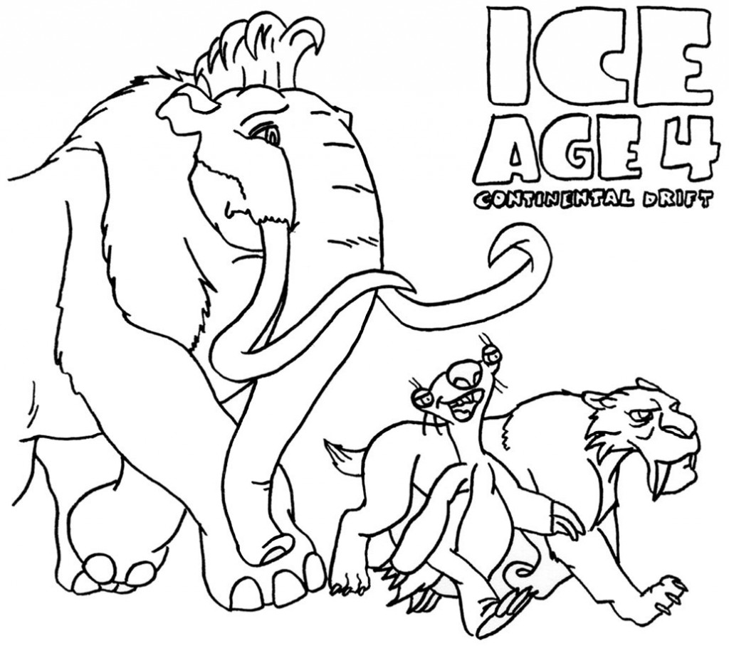 ice age 4 coloring pages kids n funcom 12 coloring pages of ice age 4 4 pages ice age coloring