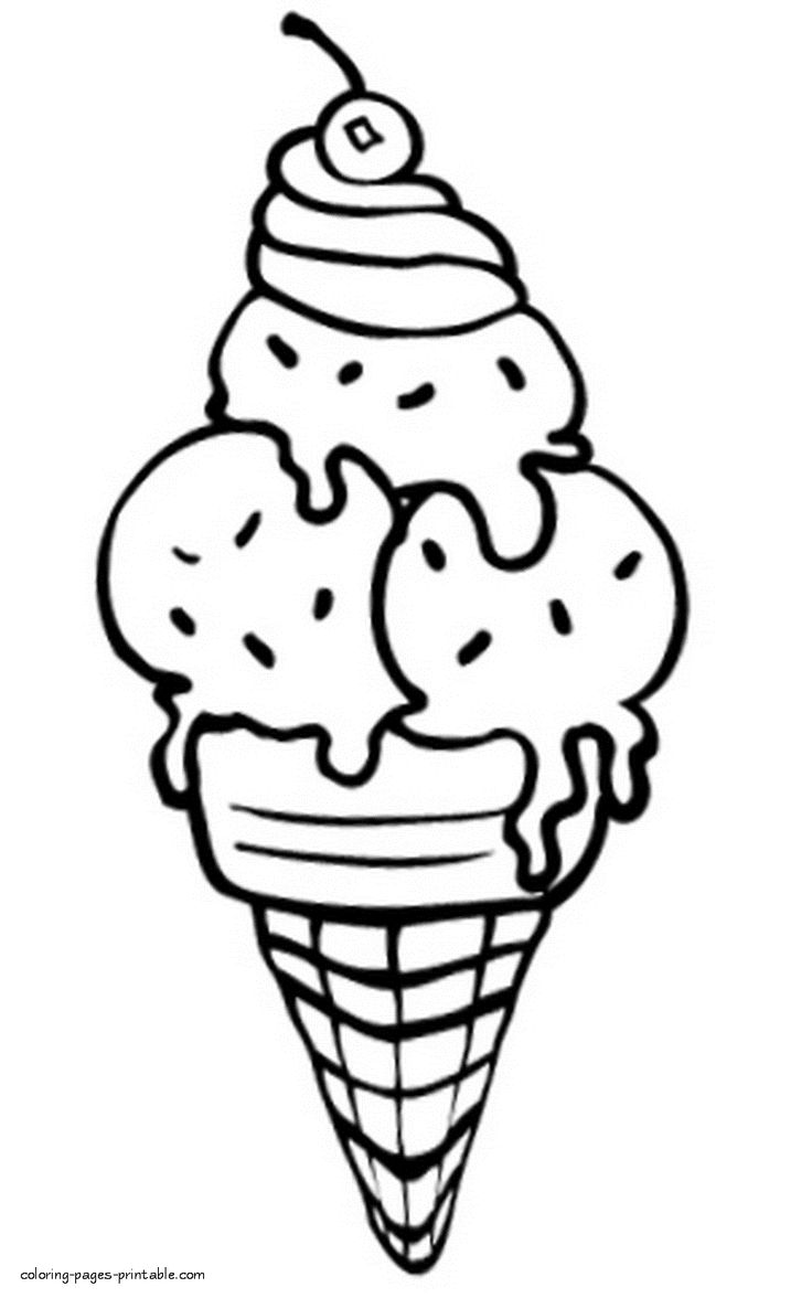 ice cream coloring pages free kids ice cream s033f coloring pages printable cream pages coloring ice free