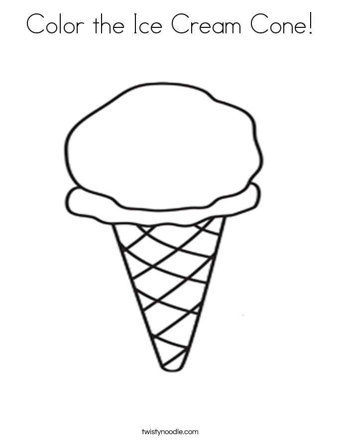 ice cream cone coloring picture ice cream cone coloring more pages to color pinterest coloring picture cream ice cone