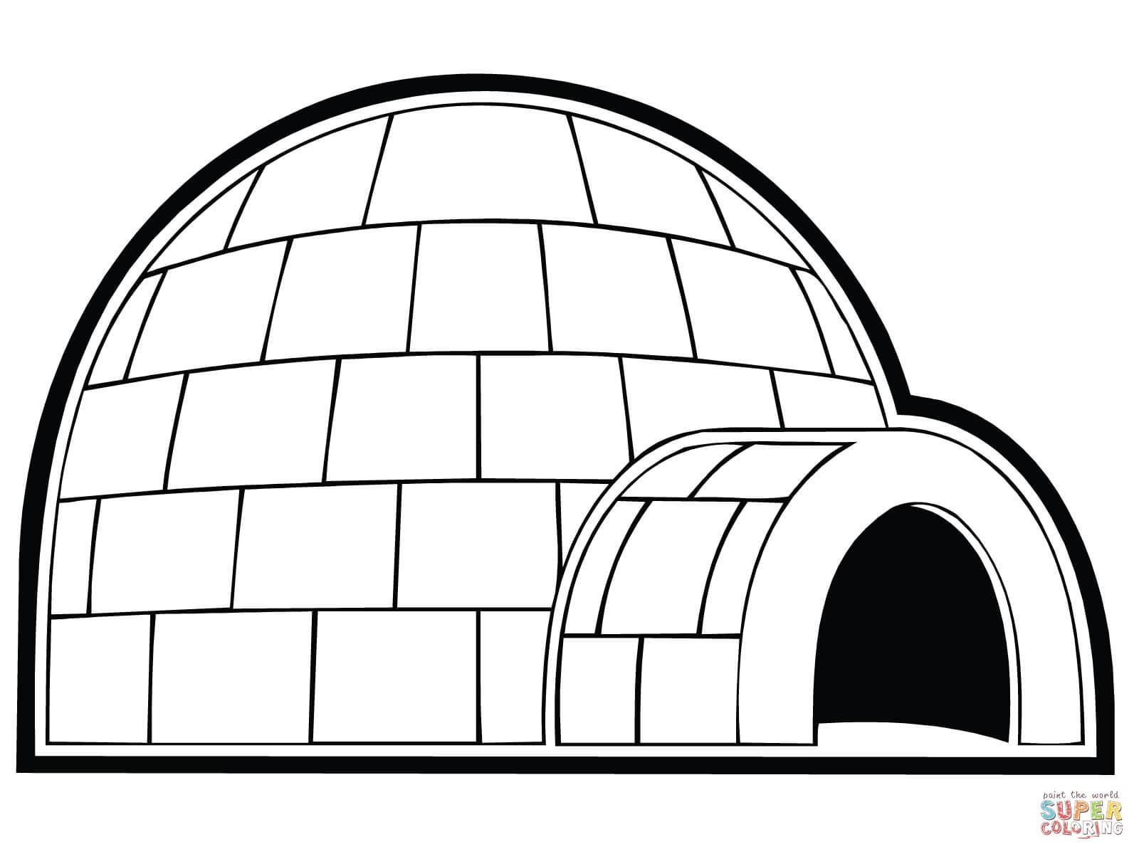 igloo pictures to color coloring pages various free downloads igloo to pictures color