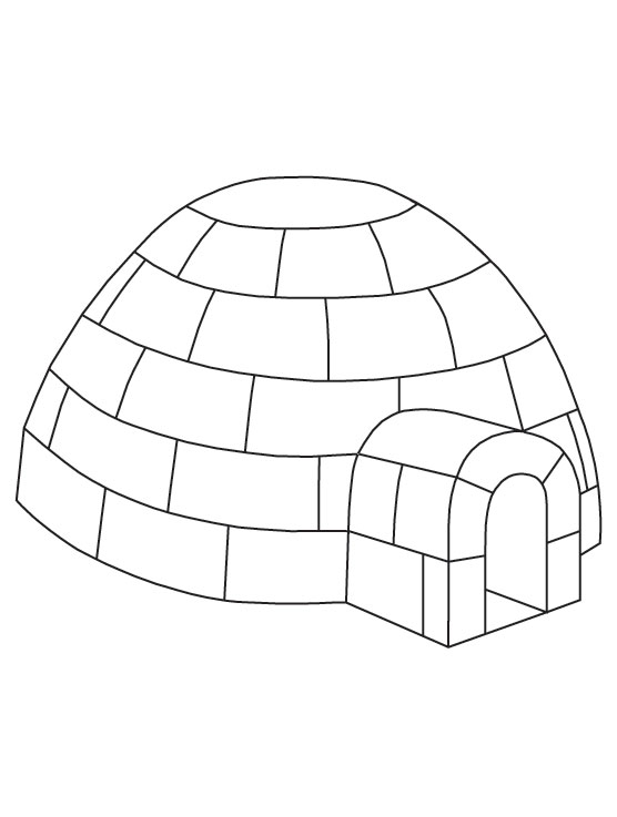 igloo pictures to color free igloo coloring page color pictures to igloo