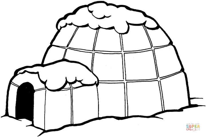 igloo pictures to color igloo coloring page sketch coloring page color igloo to pictures