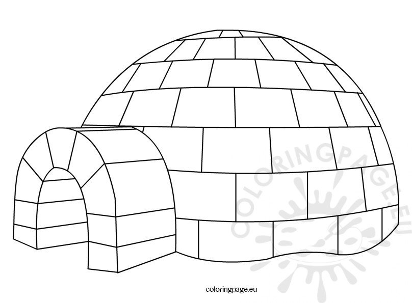 igloo pictures to color igloo coloring pages clipart black and white penguin color igloo to pictures