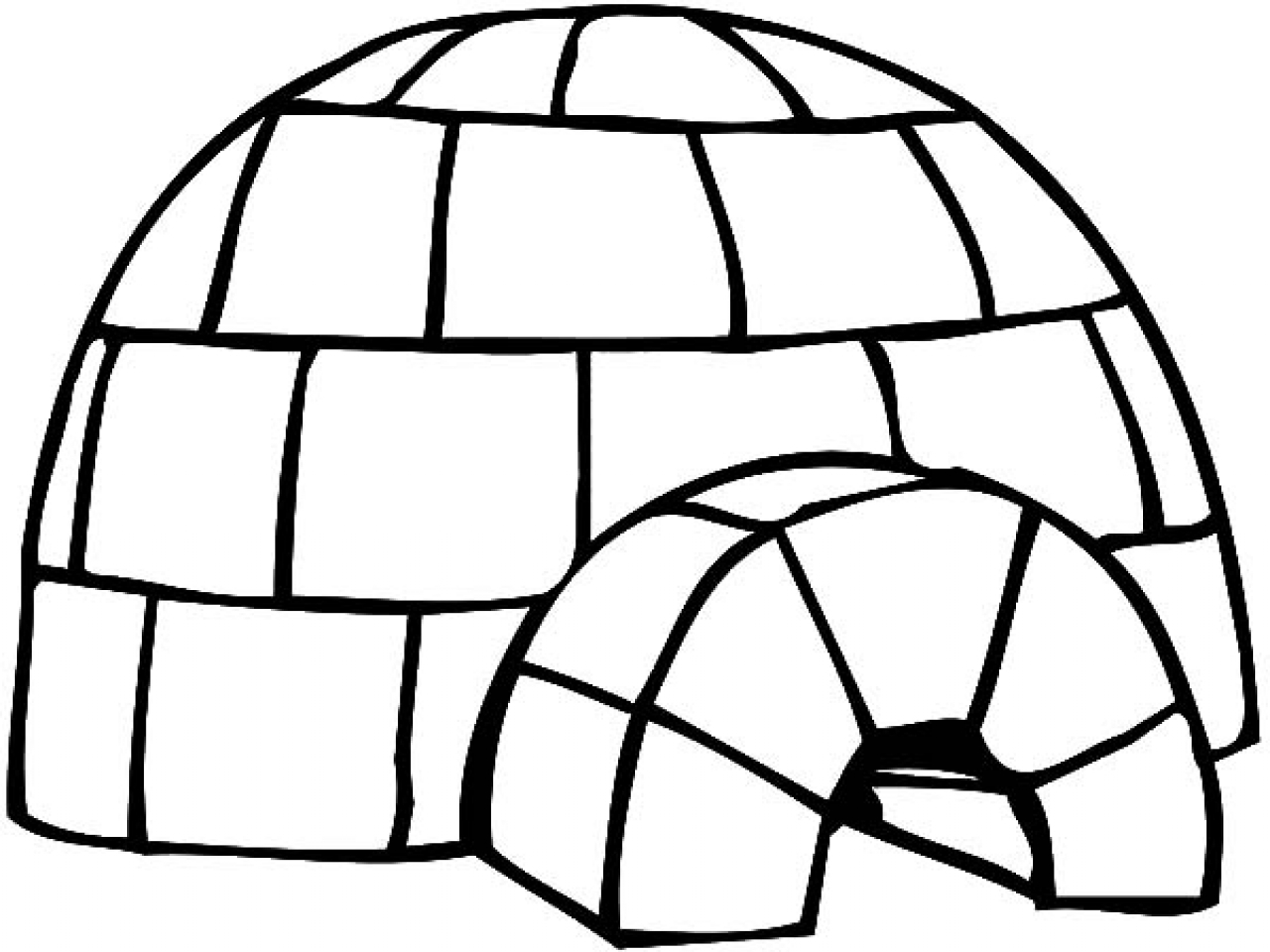 Igloo pictures to color