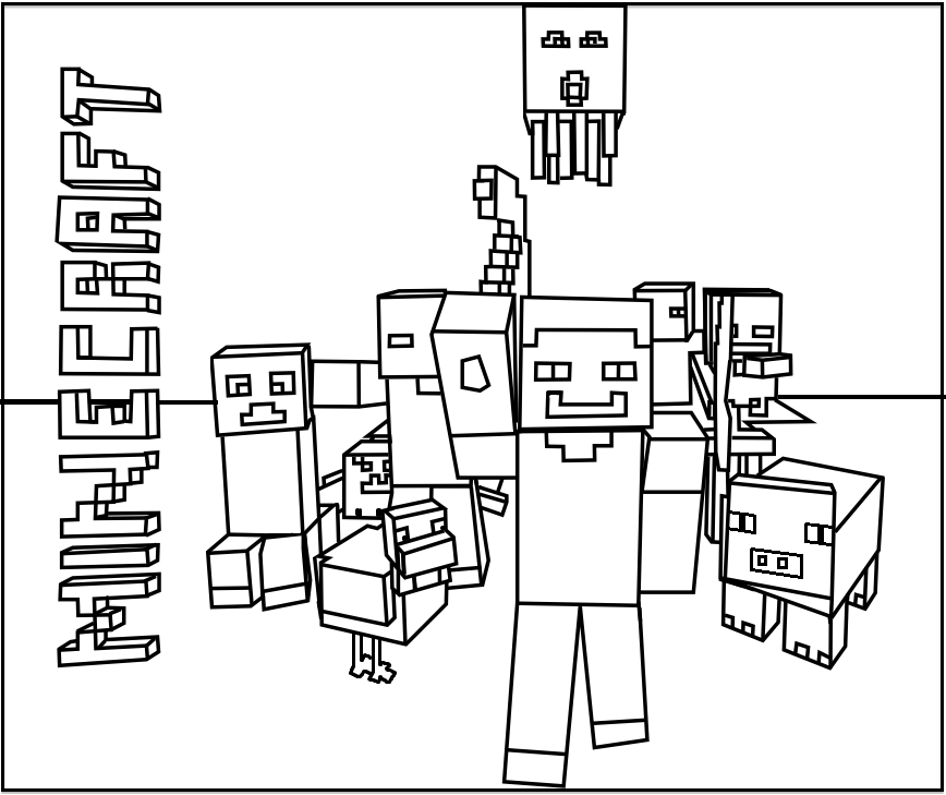 images of minecraft coloring pages minecraft logo coloring pages at getcoloringscom free coloring images of pages minecraft