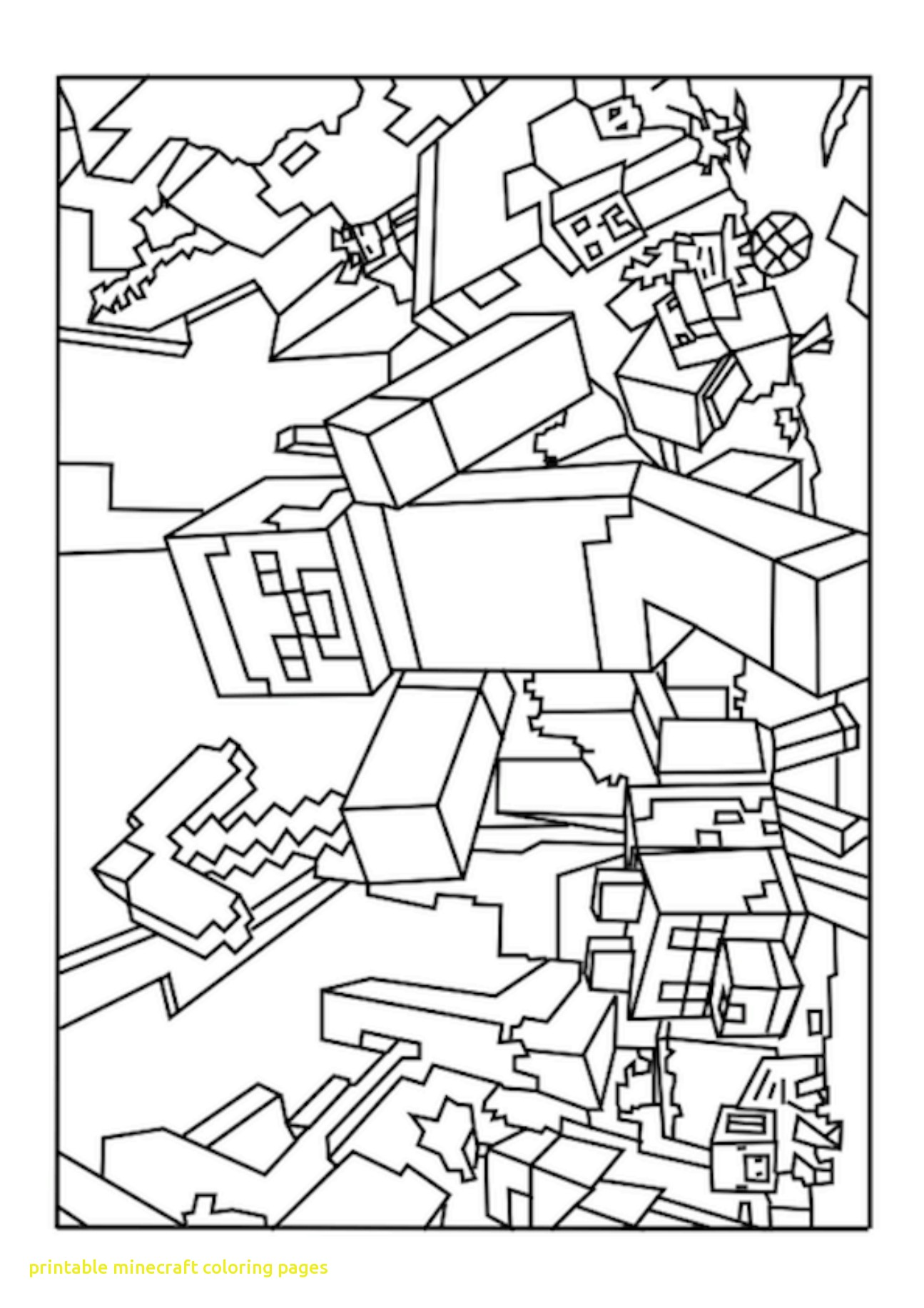 Images of minecraft coloring pages