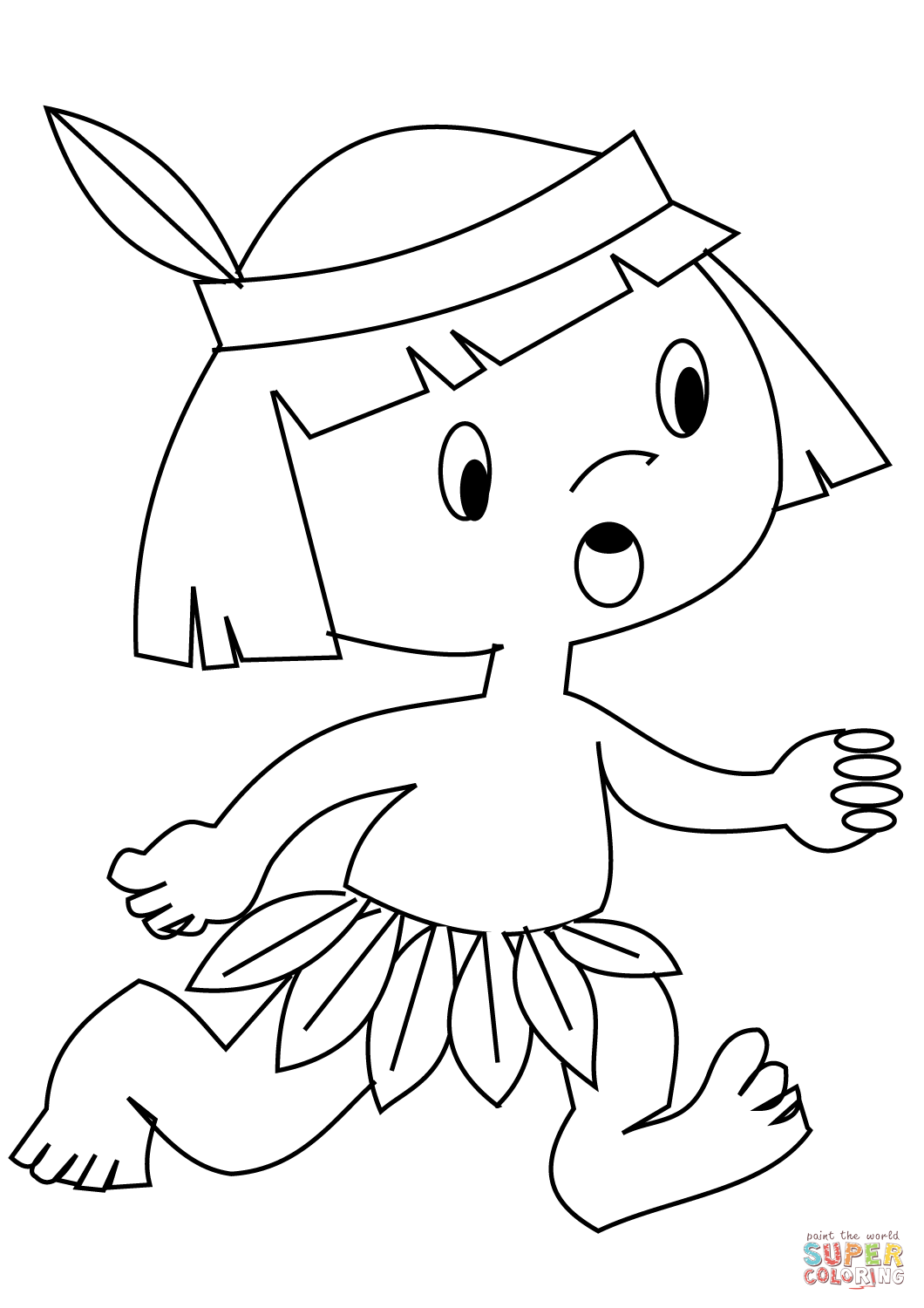 indian pictures to color coloring page indian children to indian color pictures