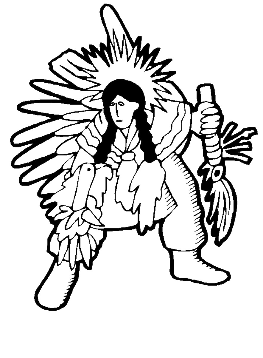 indian pictures to color free printable native american coloring pages at to pictures indian color