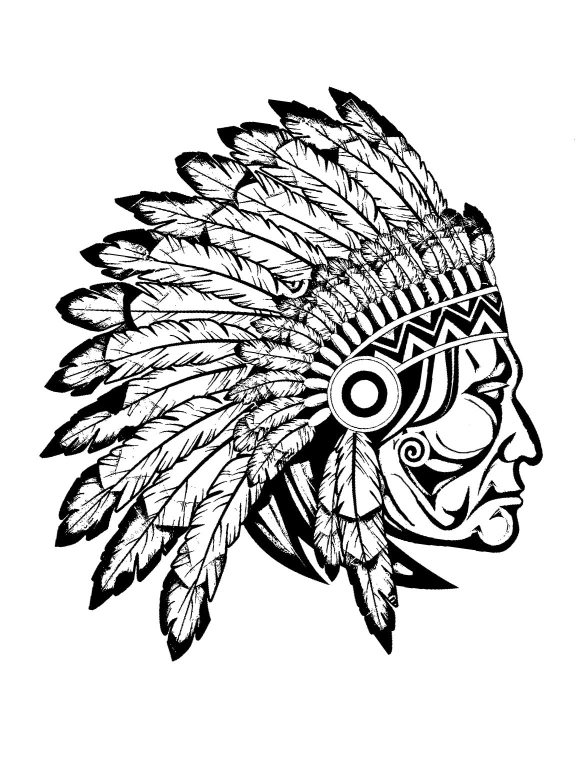 indian pictures to color indian chief coloring page at getcoloringscom free pictures indian to color