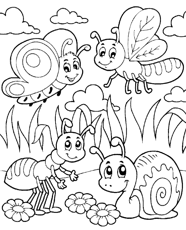 insect coloring sheets insects to color for kids insects kids coloring pages insect coloring sheets