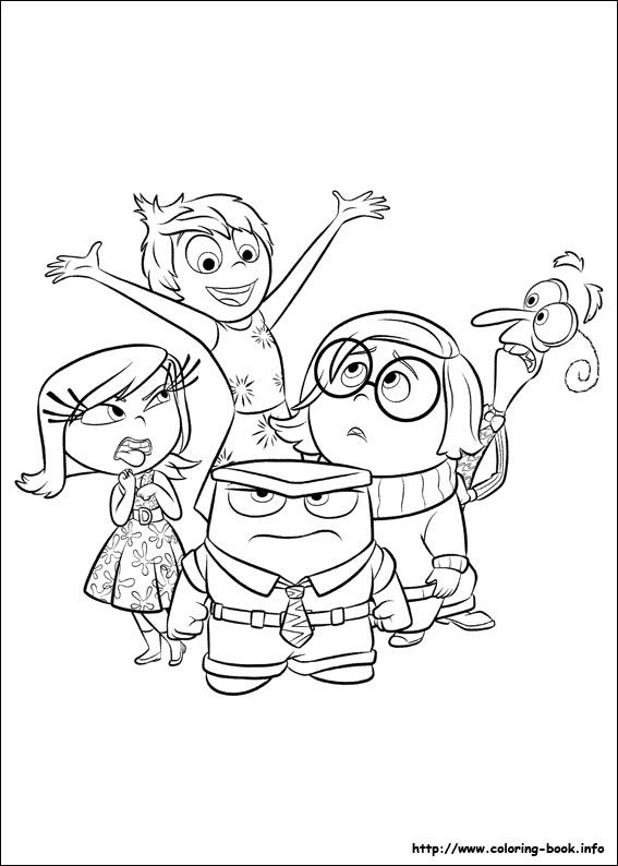 inside out coloring pages all characters disney pixar inside out coloring pages featuring joy characters pages inside out coloring all