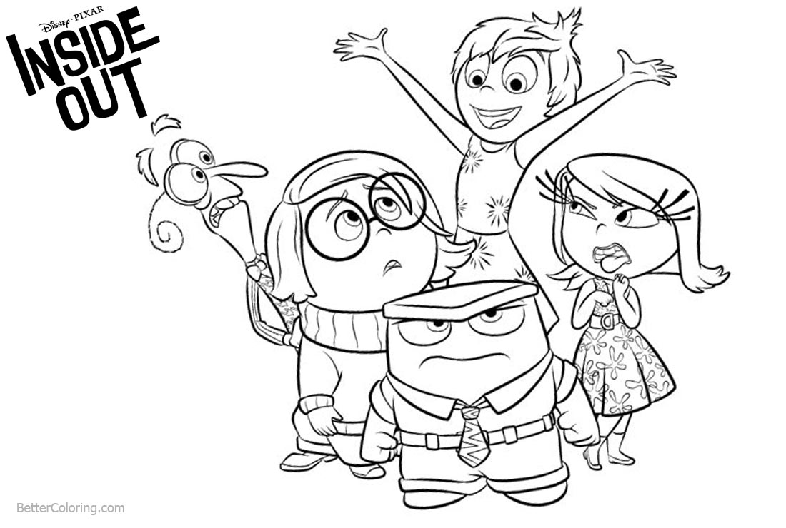 inside out coloring pages all characters funny inside out coloring pages free printable coloring inside characters out all coloring pages