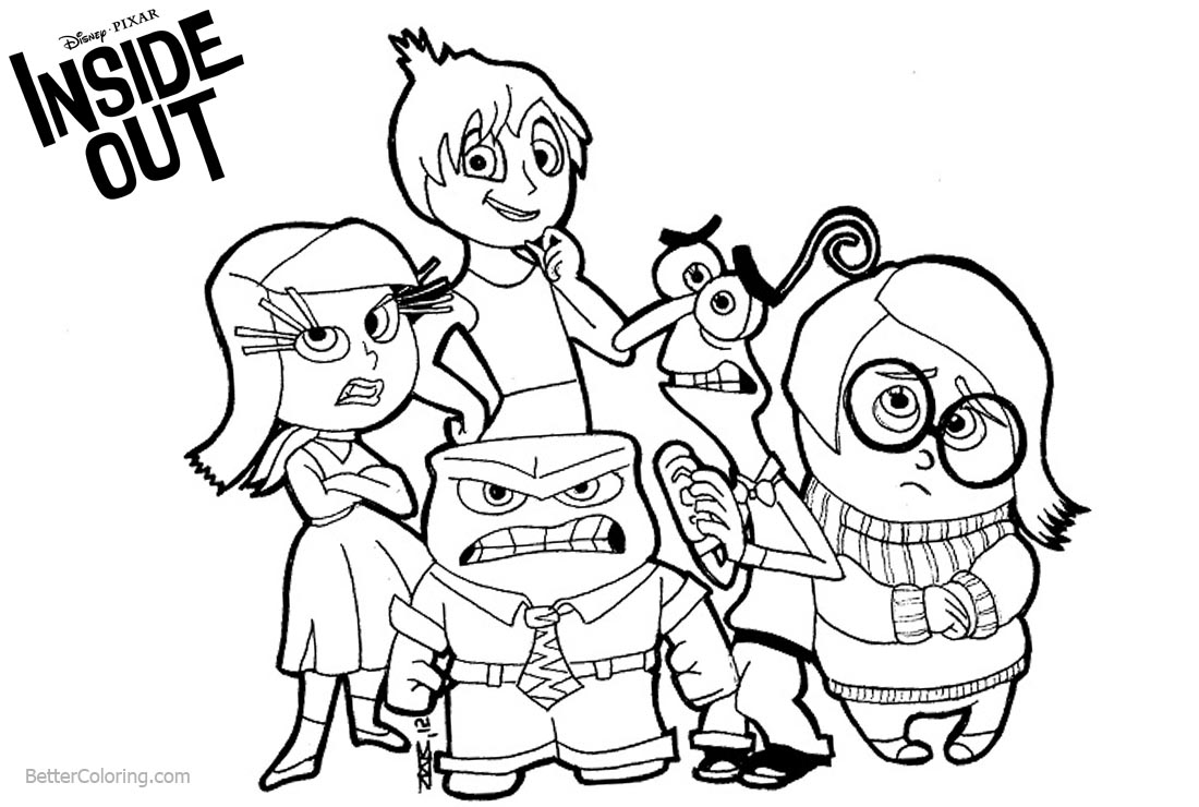 inside out coloring pages all characters inside out coloring pages disneyclipscom pages inside out characters all coloring