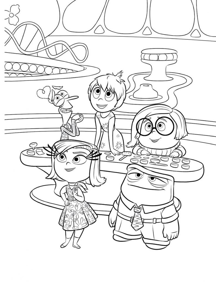 inside out coloring pages all characters inside out team coloring page free inside out coloring all characters coloring inside out pages