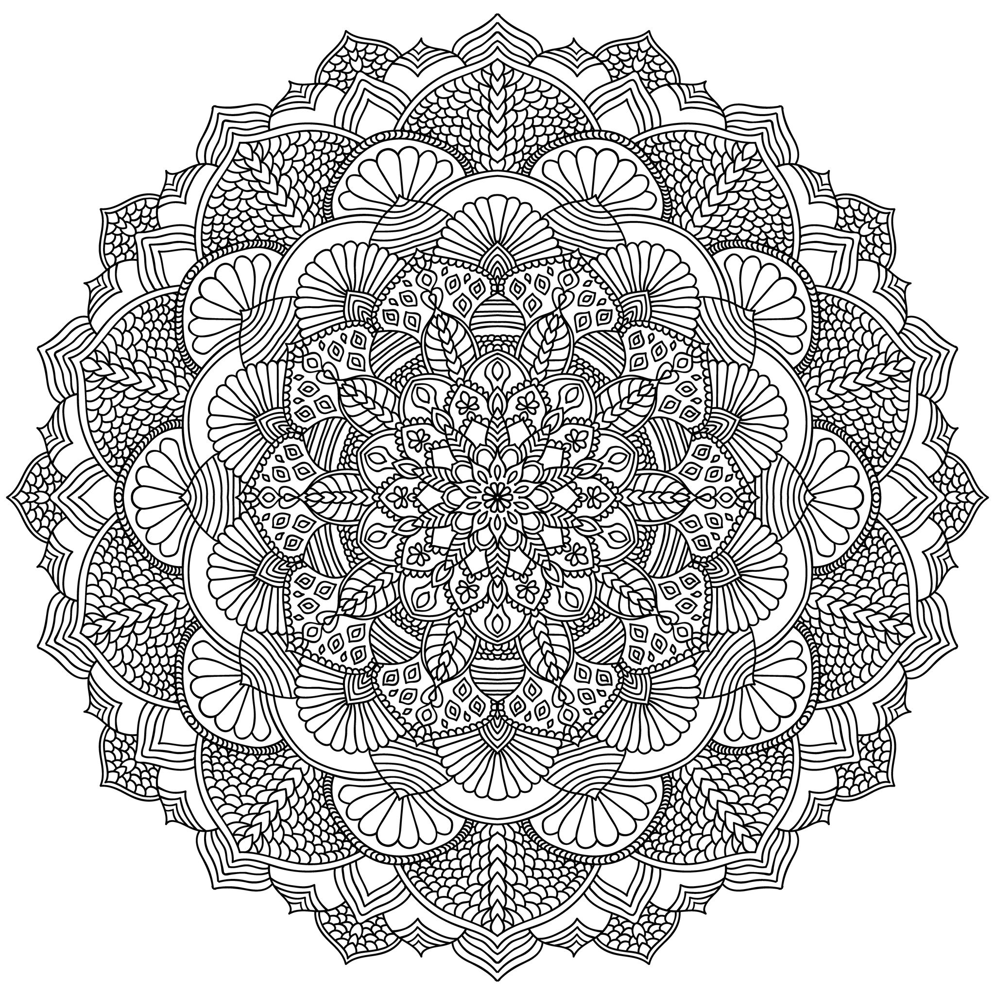 intricate coloring pages printable intricate mandala coloring pages by krishthebrand pages intricate coloring