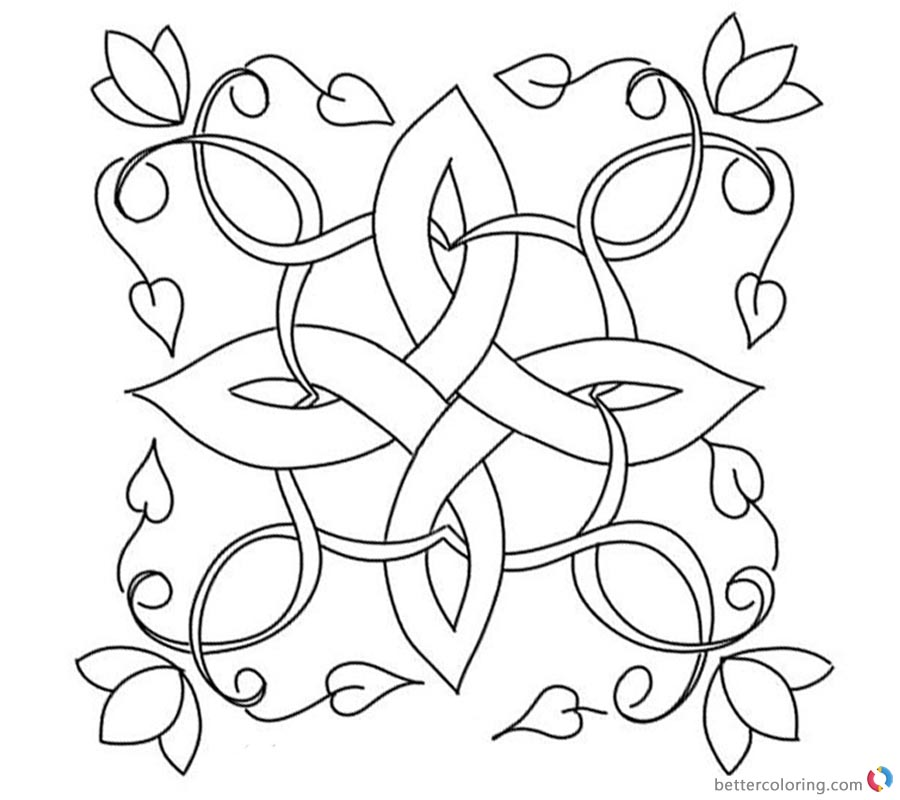 irish coloring pages celtic knot coloring pages for adults free printable irish coloring pages