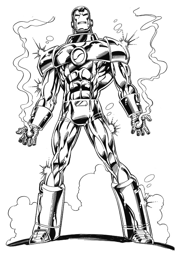 iron man free coloring pages iron man superheroes printable coloring pages man free iron coloring pages