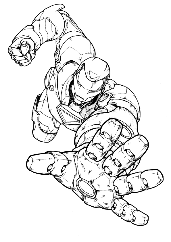 iron man images to colour coloring pages for kids free images iron man avengers iron to colour man images