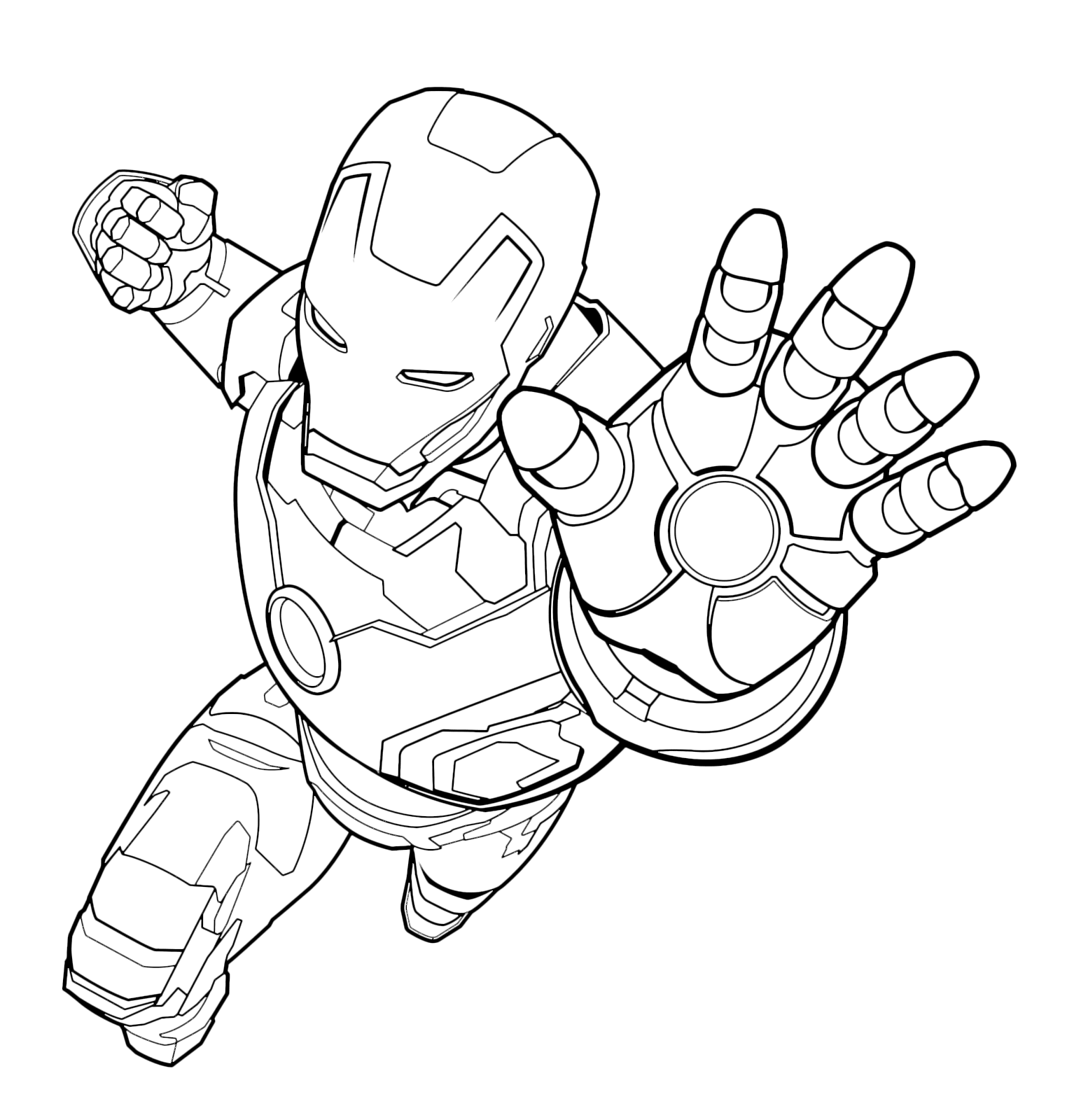 iron man images to colour coloring pages for kids free images iron man avengers to images iron colour man