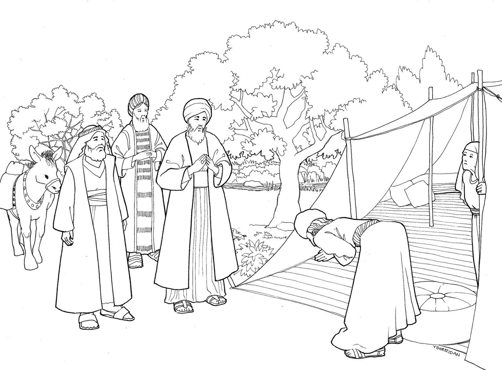 isaac and rebekah coloring page rebecca and isaac coloring page page rebekah coloring isaac and