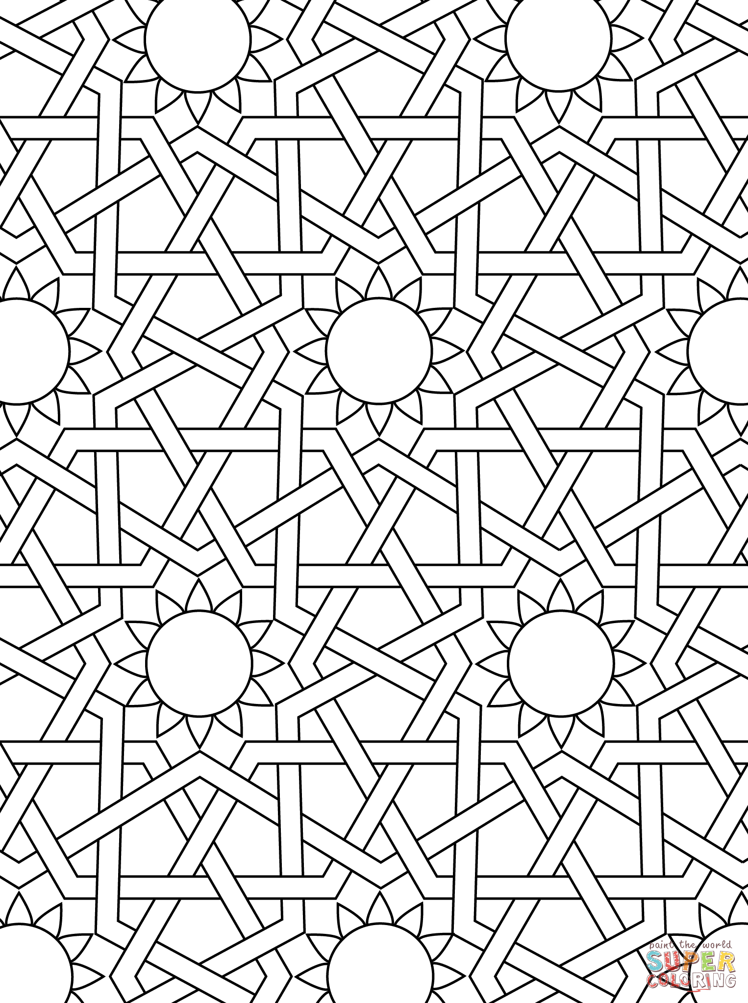 islamic art coloring pages islamic art drawing at getdrawings free download pages art islamic coloring