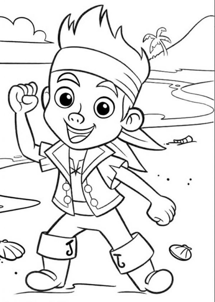 Jake neverland pirates coloring pages
