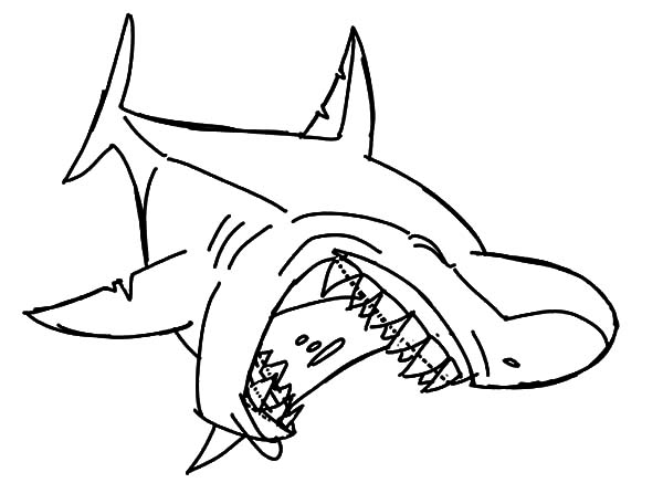jaws coloring pages scarey jaws the shark free coloring pages coloring jaws pages
