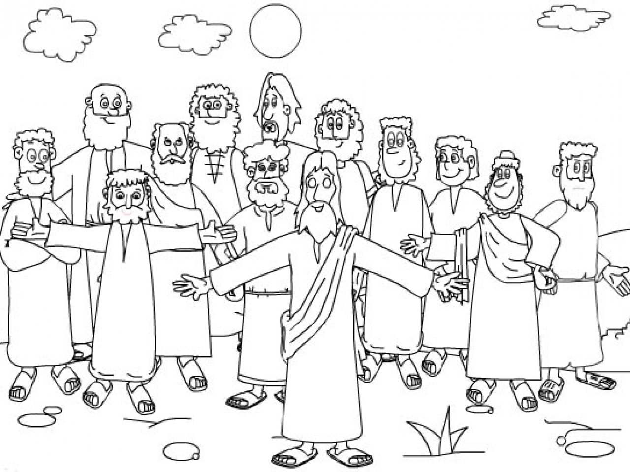 jesus and disciples coloring page jesus 12 disciples coloring page sketch coloring page page jesus disciples coloring and