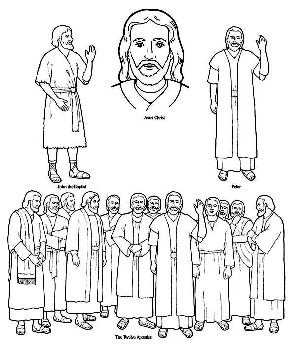 jesus and disciples coloring page jesus calling his disciples coloring pages at getdrawings jesus page and disciples coloring