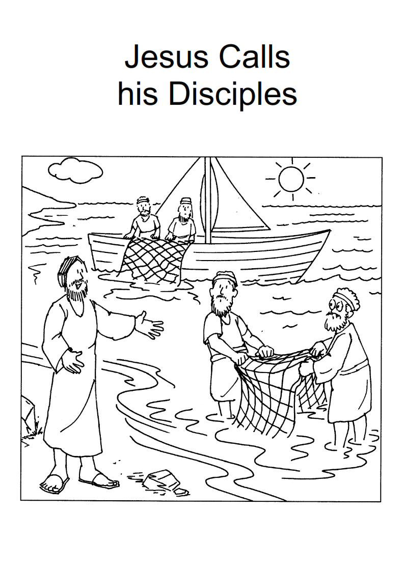 jesus and disciples coloring page jesus calls his disciples coloring page summer 2015 jesus and disciples coloring page