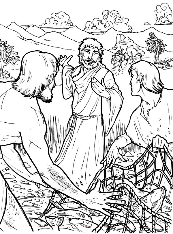 jesus and disciples coloring page jesus calls the 12 apostles coloring pages coloring jesus disciples and coloring page