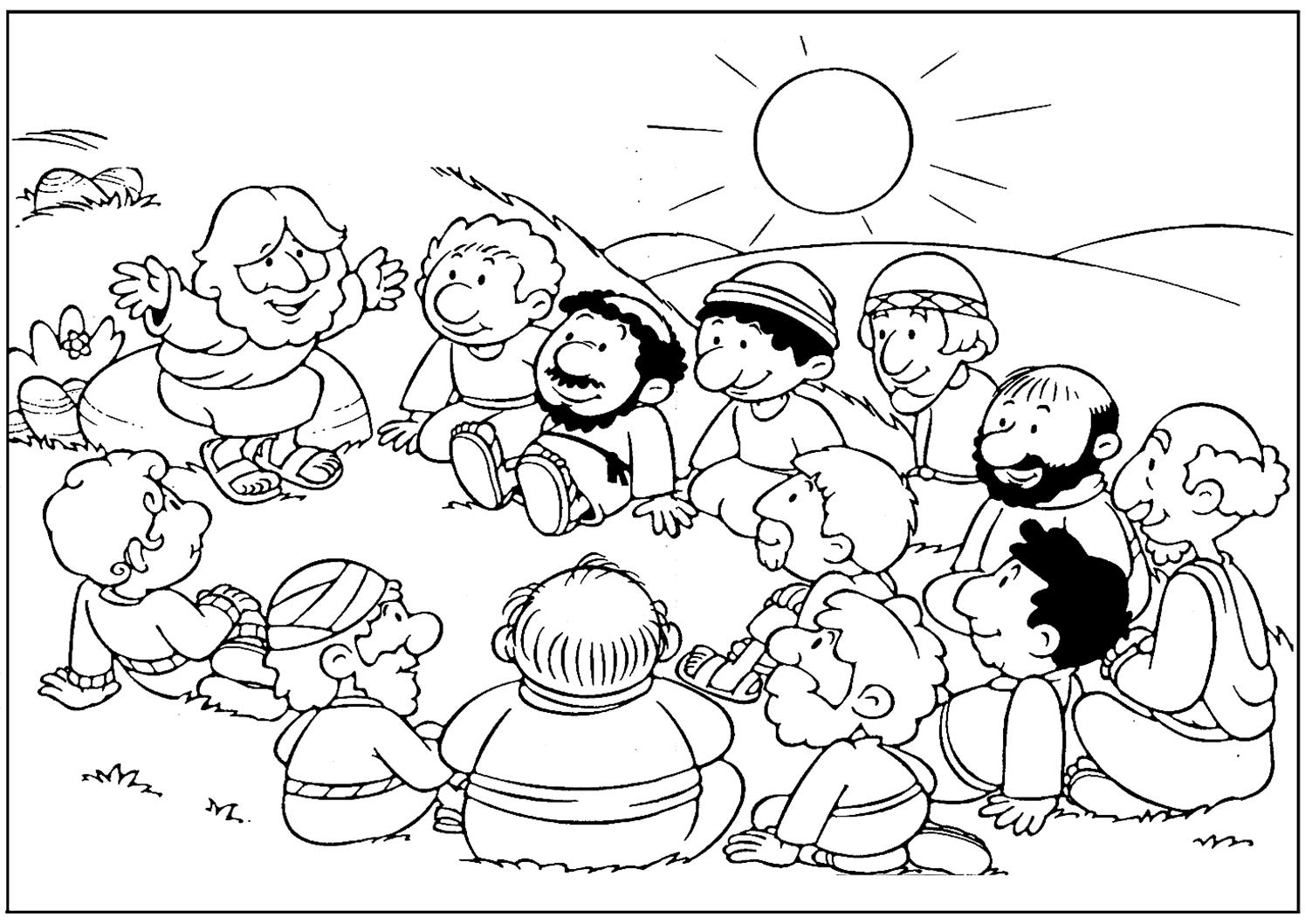 jesus and disciples coloring page jesus coloring pages disciples coloring pages pinterest coloring disciples jesus and page