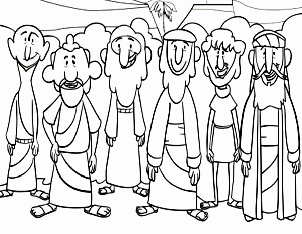jesus and disciples coloring page jesus with disciples coloring page catholic schools week coloring disciples jesus and page