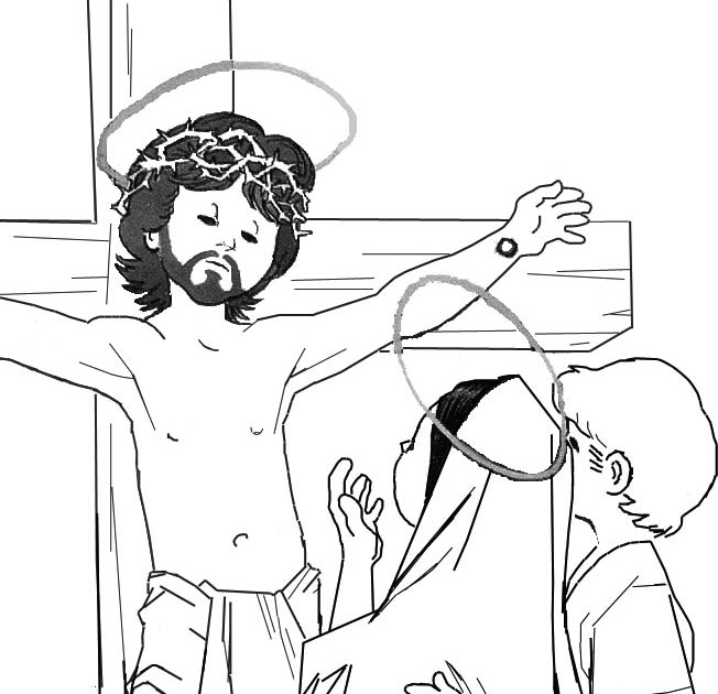 jesus crucifixion coloring pages crucifixion coloring page jesus pages coloring crucifixion
