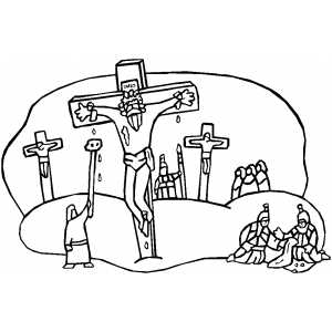 jesus crucifixion coloring pages free easter coloring pages crucifixion coloring jesus pages