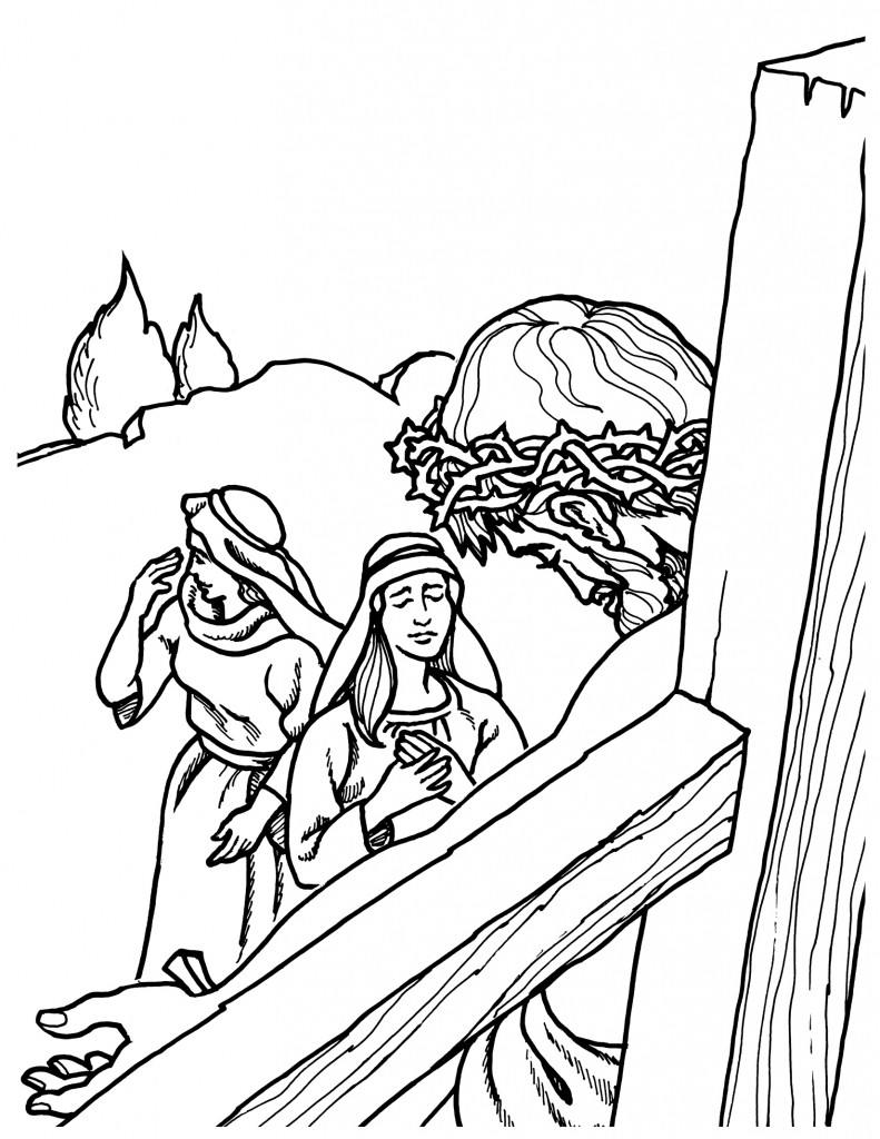 jesus crucifixion coloring pages jesus crucified coloring pages at getdrawings free download crucifixion pages jesus coloring