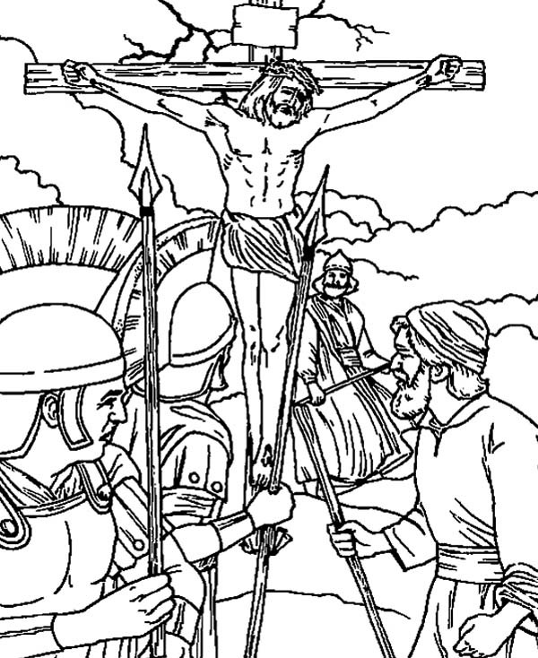 jesus crucifixion coloring pages jesus crucified coloring pages at getdrawings free download pages crucifixion coloring jesus