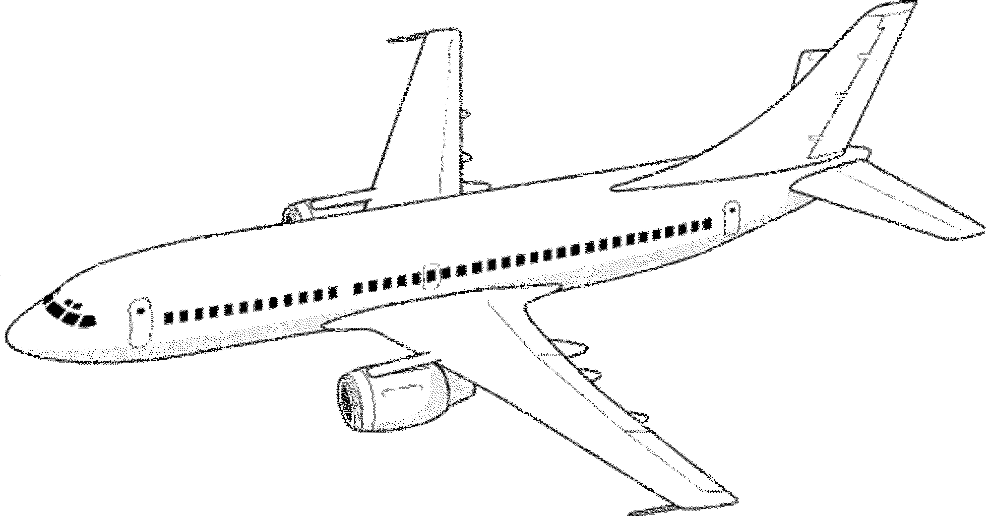 jet coloring images cute simple airplane line art free clip art coloring images jet