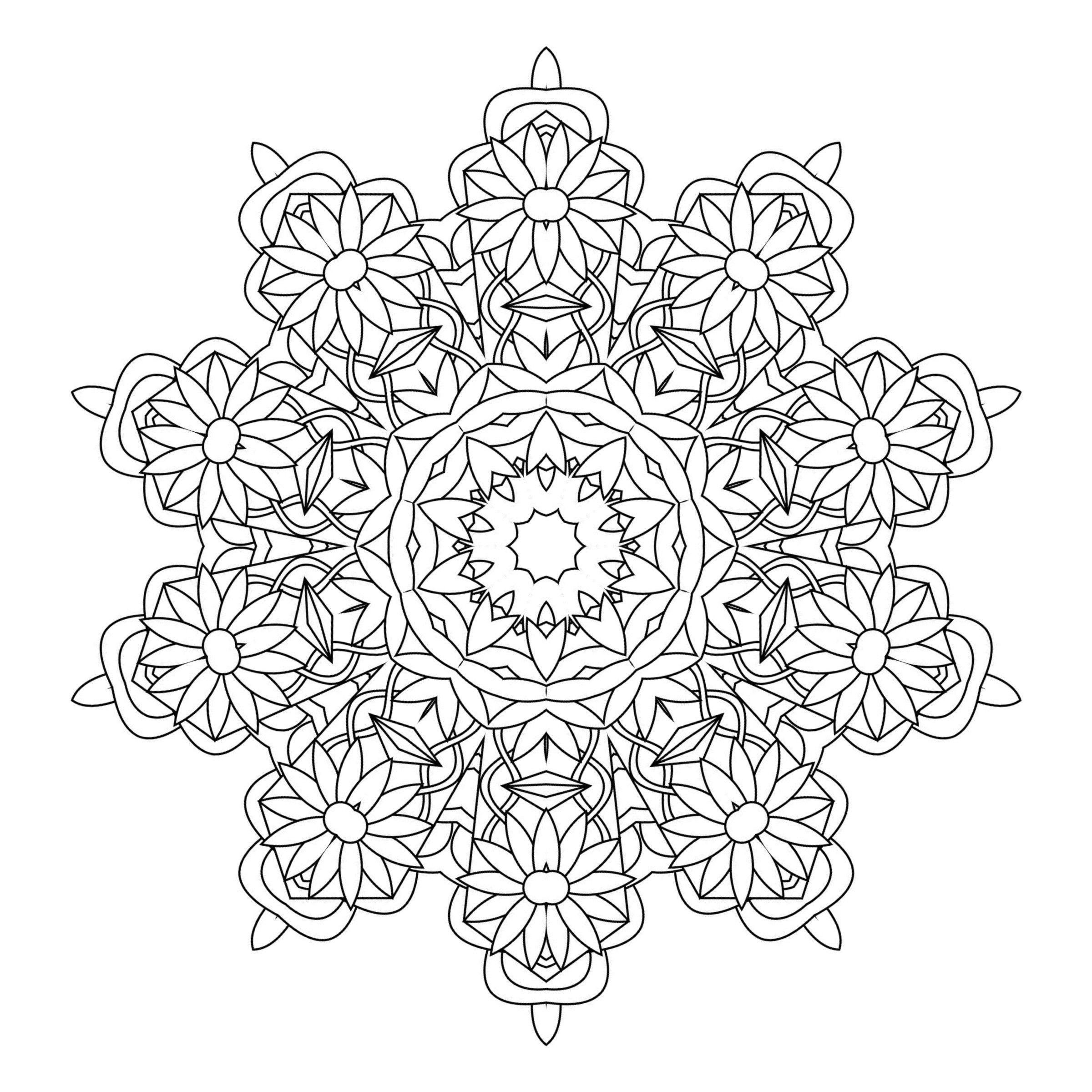 kaleidoscope coloring pages printable kaleidoscope coloring pages for adults at coloring kaleidoscope pages