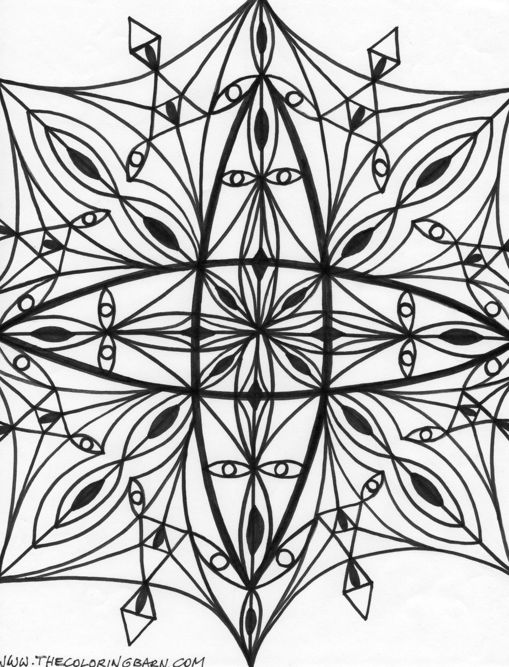 kaleidoscope coloring pages printable kaleidoscope coloring pages for kids cool2bkids pages kaleidoscope coloring