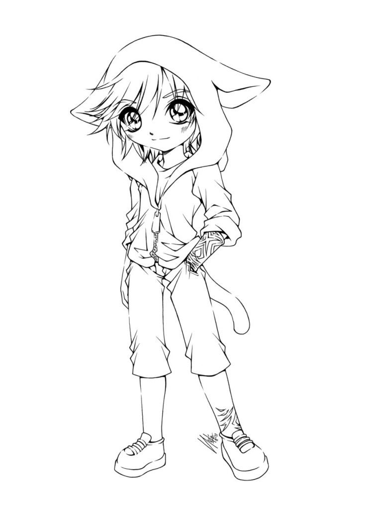 kawaii anime boy coloring pages 40 best anthro line art images on pinterest coloring coloring boy anime kawaii pages