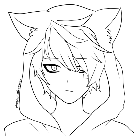 kawaii anime boy coloring pages neko boy by bxbbless on deviantart boy kawaii pages coloring anime