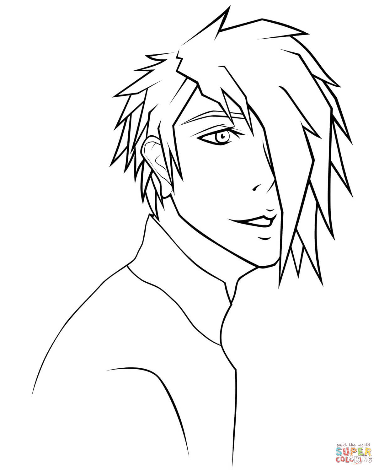 kawaii anime boy coloring pages rj anime boy portrait by sugarcoatedlollipops coloring pages anime kawaii coloring boy