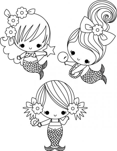kawaii mermaid coloring pages 1001 ideas for easy drawings for kids to develop their mermaid coloring kawaii pages